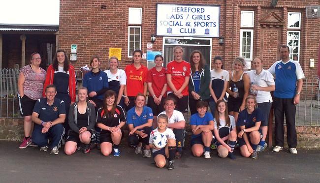 Join Hereford Lads Club Ladies' Team