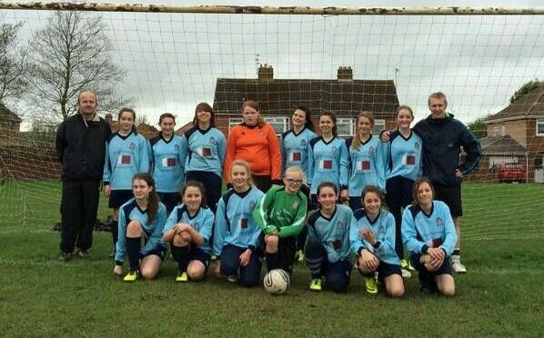 Lads Club u14 Vixens win the Gloucestershire u14 Girls League