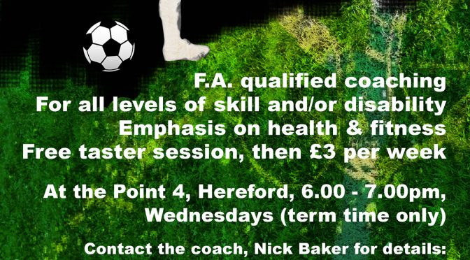 Inclusive Football | 12-16yrs & 17-25yrs at Point 4 on Wednesdays